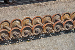 Wheelsets railcar Stock Photography