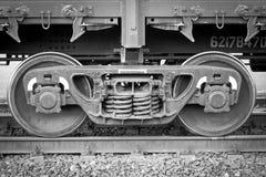 Wheelsetspoorwagon stock afbeelding