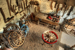Wheelwrights workshop Stock Image