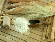 Wheet and flour Stock Image