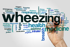 Wheezing word cloud Stock Photography