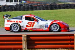 Whelen racing Corvette. Eric Curran races the Marsh Racing for the Whelen Eng Co sponsored Race team at the professional motorsports racing event, International stock image