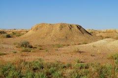 Whell al suolo del deserto Immagine Stock