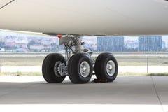 Whell del aeroplano imagenes de archivo