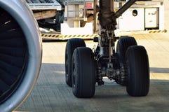 Whell del aeroplano Foto de archivo libre de regalías