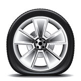 Whell Set 3. Drawing of the tire on a white background Stock Image