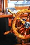 Whell streering de madeira foto de stock
