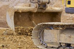 Whelled excavators Royalty Free Stock Image