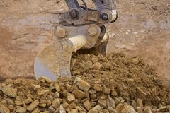 Whelled excavators royalty free stock images