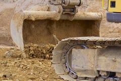 Whelled grävskopor Royaltyfri Bild
