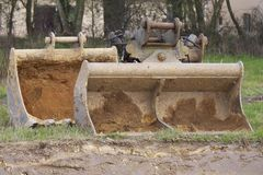 Whelled grävskopor Royaltyfri Foto
