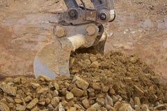 Whelled grävskopor Royaltyfria Bilder