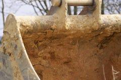 Whelled grävskopor Arkivfoto