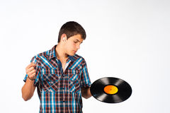 Where?. Where can I plug in my earphones with this funny thing Royalty Free Stock Images