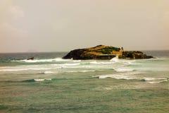 Where the atlantic ocean meets the caribbean sea Stock Photography