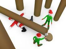 Where did santa go ? Royalty Free Stock Image