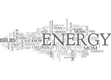 Where Did Your Energy Goword Cloud Royalty Free Stock Photo