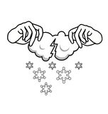 Where do snow come from stock illustration