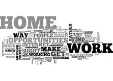 Where Do You Find Work At Home Opportunities Word Cloud Royalty Free Stock Image