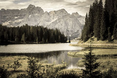 Where dreams come true. At Misurina Royalty Free Stock Images