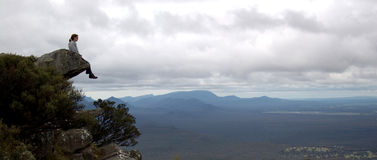 Where eagles dare. A vantage point appropriate for the view. (The Grampians, Australia