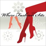 Where Fashion sits - Shapely legs and feet  Stock Photography