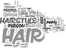 Where Is That Hair Way Up There Word Cloud Royalty Free Stock Photo