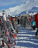 Where Have I Left My Skis at Mount Hutt Ski Field, NZ. royalty free stock images