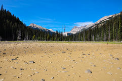 Where is the lake?! It dried out...! British Colombia, Canada Royalty Free Stock Image