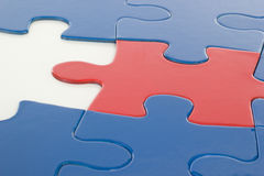 Where is the last puzzle piece? Stock Images
