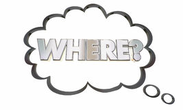 Where Location Question Thought Cloud Thinking Lost Stock Photos
