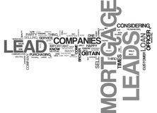 Where Mortgage Leads Come From Word Cloud Royalty Free Stock Images