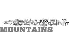Where The Mountains Talk To Youword Cloud Royalty Free Stock Photo