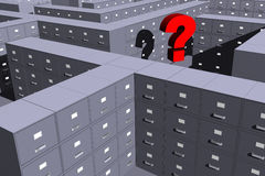 Where is my file? (3D). Photo of Where is my file? (3D Royalty Free Stock Images