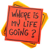 Where is my life going question Royalty Free Stock Photo