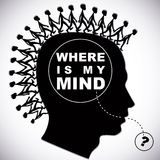 Where is my mind ? Royalty Free Stock Image