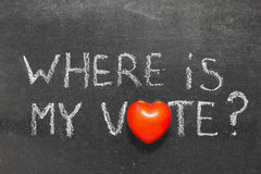 Where is my vote Royalty Free Stock Photography