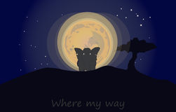 Where my way. To find their own path. Whether human or animal, it is bordered on the right to choose their own path Royalty Free Stock Photography