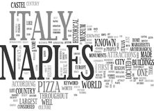 Where Is Naples Italy Word Cloud. WHERE IS NAPLES ITALY TEXT WORD CLOUD CONCEPT Stock Image