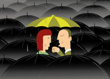 Where is no bad weather if you are in love Royalty Free Stock Image