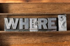 Where quest tray stock photo