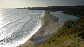 Where river and sea meet stock video