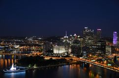 Where the Rivers Meet in Pittsburgh stock photography