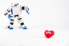 Where's my love?. A robot finding its love Royalty Free Stock Photography