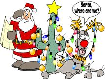 Where are we Santa? royalty free stock photo