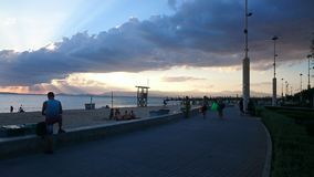 Where is the sun, Mallorca. Sun Mallorca cloudy Royalty Free Stock Photo