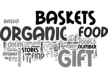 Where To Buy Organic Food Gift Baskets Word Cloud Stock Images