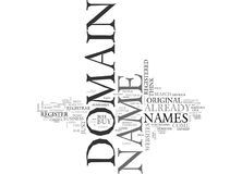 Where To Buy Your Domain Name Word Cloud Royalty Free Stock Photo