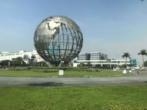 Where to Cebu. A monument in the form of a globe is located in the Philippines, Cebu Island Royalty Free Stock Photo