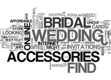 Where To Find Bridal Accessories Word Cloud Royalty Free Stock Images
